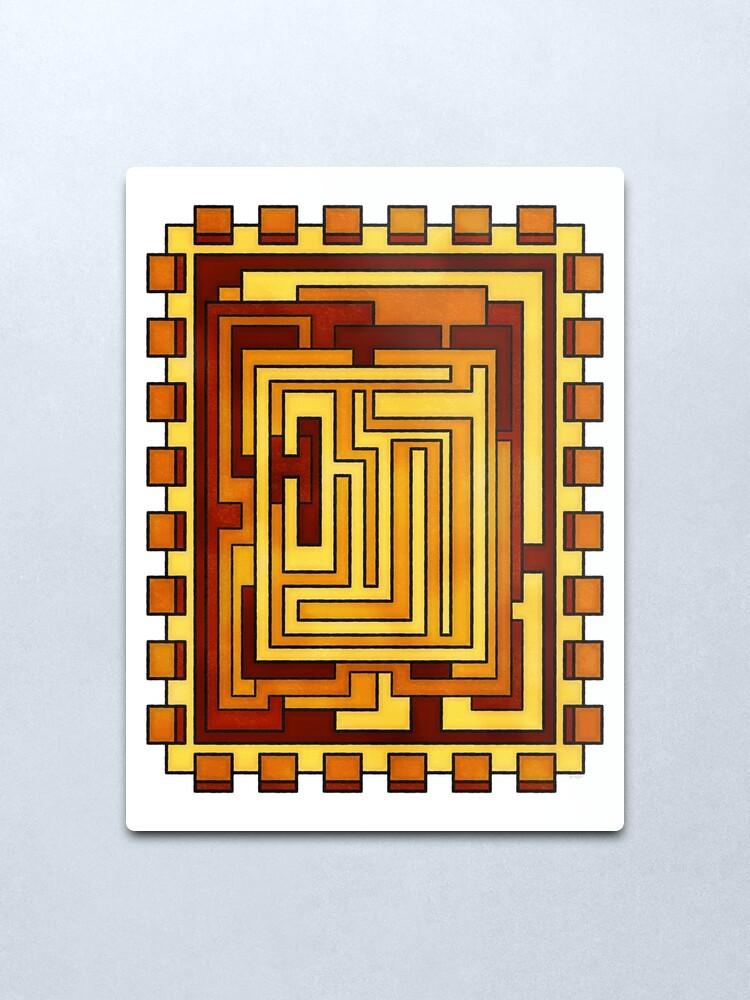 Alternate view of Sol - Geometric Art Deco Sun Metal Print