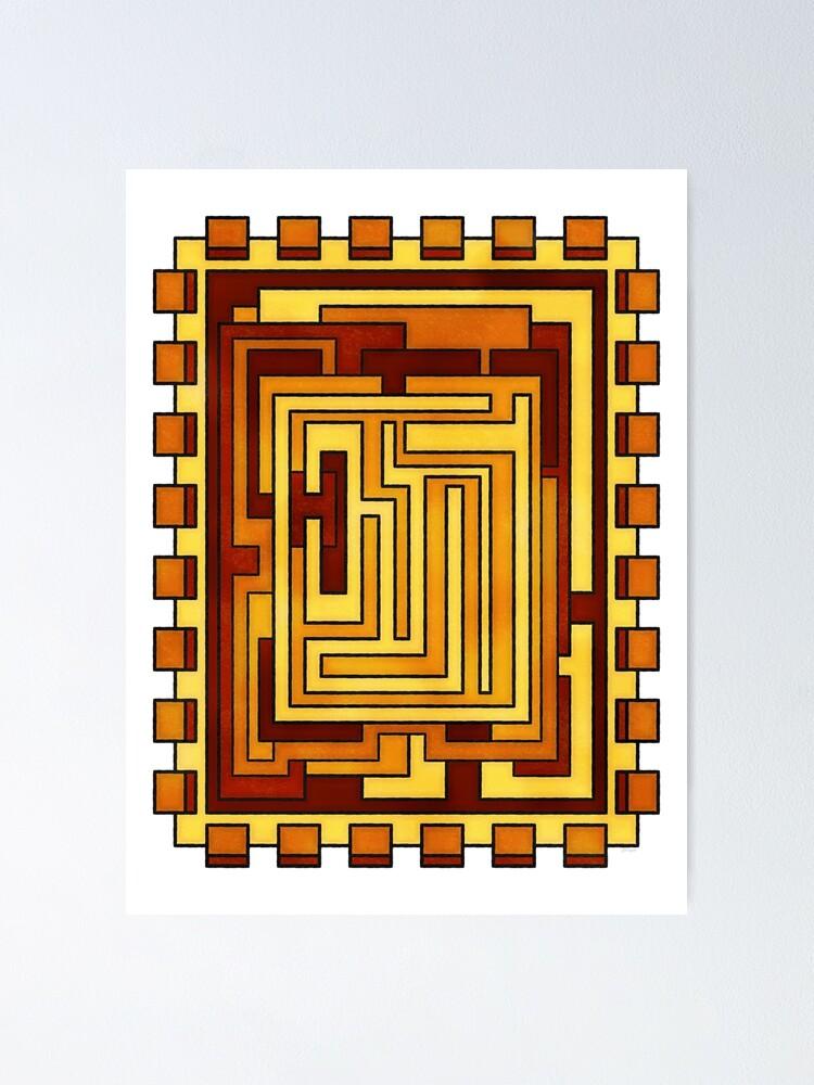 Alternate view of Sol - Geometric Art Deco Sun Poster
