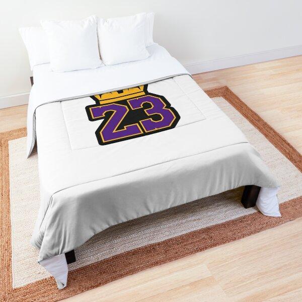 LeBron James Lakers Logo Comforter