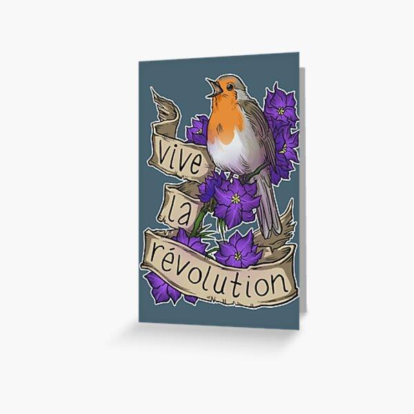 Vive la Revolution Greeting Card