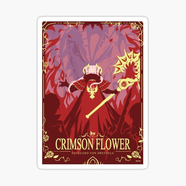 Crimson Flower Sticker