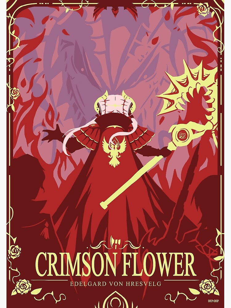 Crimson Flower by SnipSnipArt