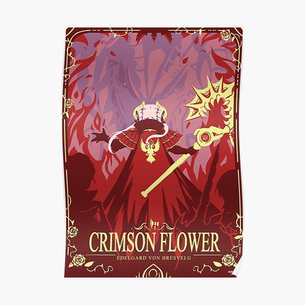 Crimson Flower Poster
