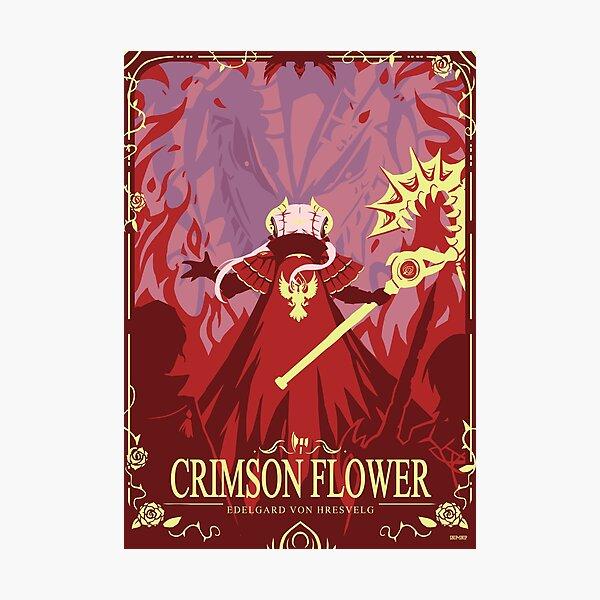 Crimson Flower Photographic Print