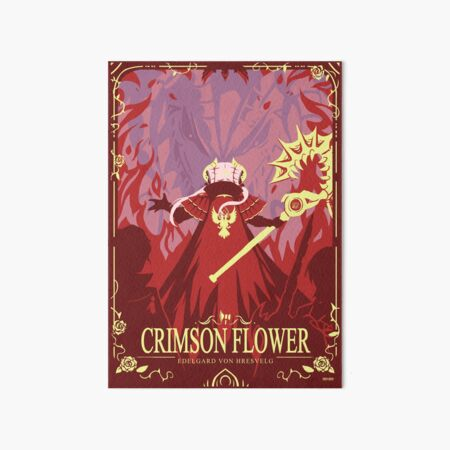 Crimson Flower Art Board Print