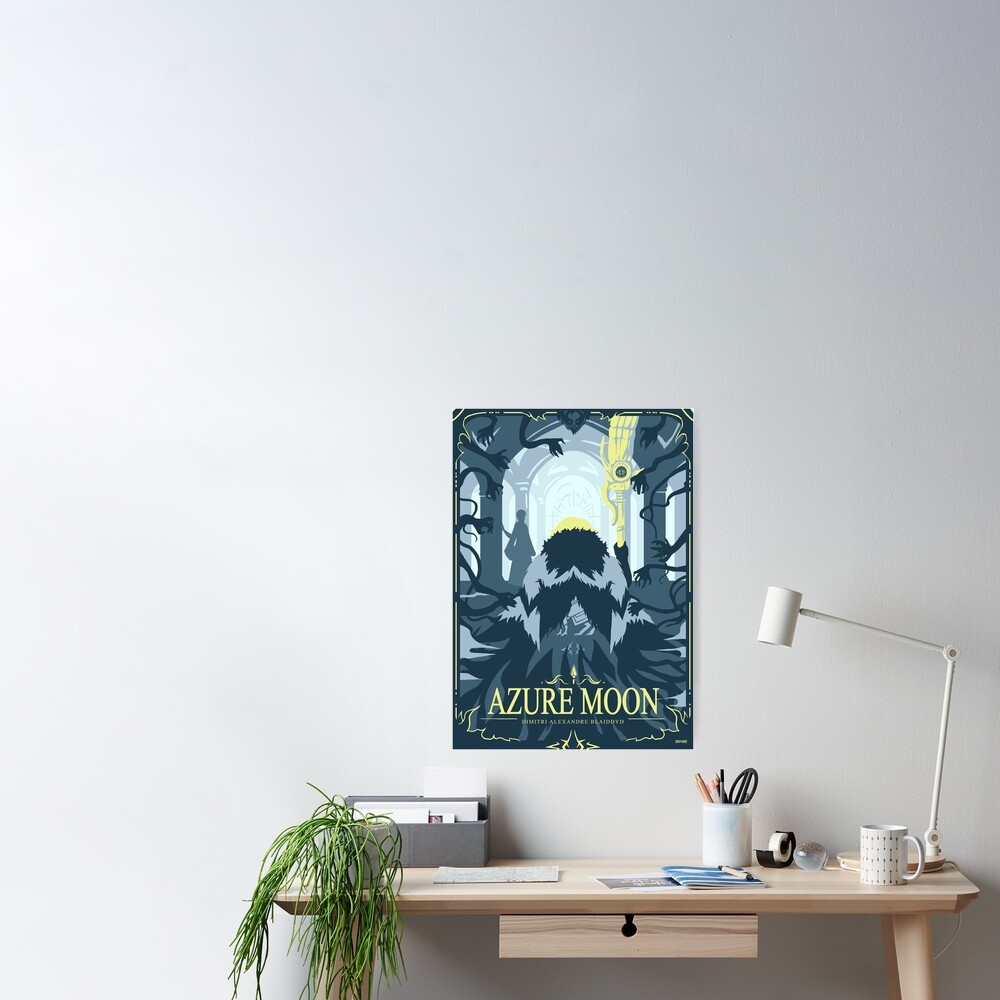Azure Moon Poster
