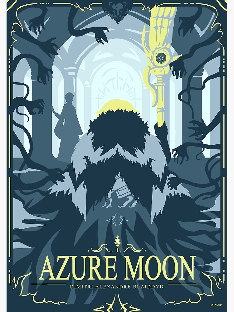 Azure Moon by SnipSnipArt