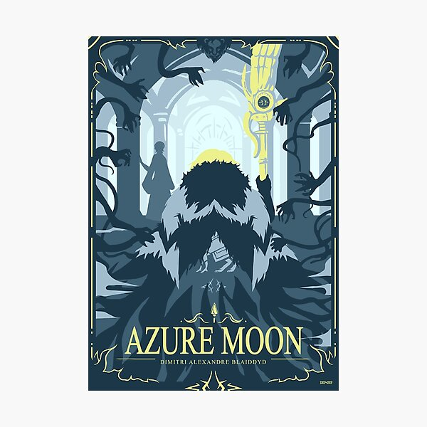 Azure Moon Photographic Print
