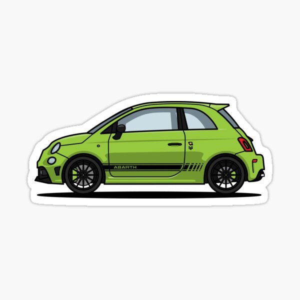 Abarth 595 Green Pegatina