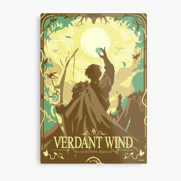 Verdant Wind Metal Print