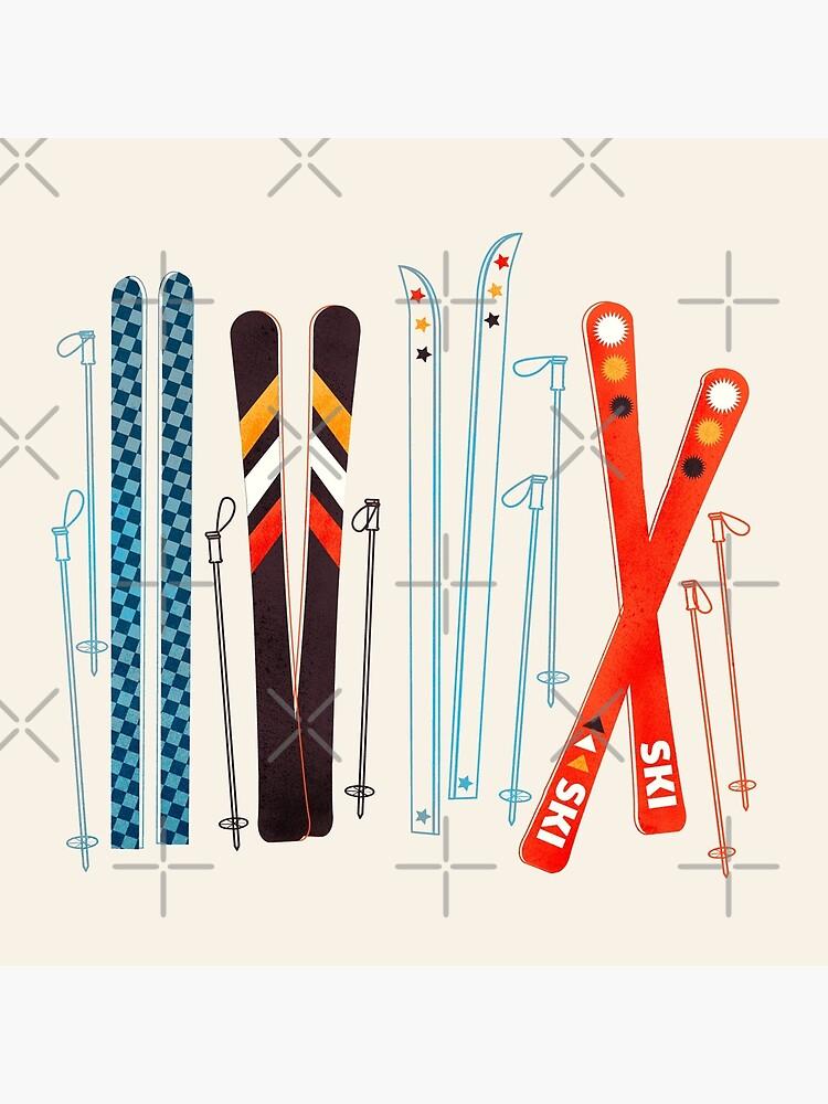 Colorful Retro Ski Illustration by ShowMeMars
