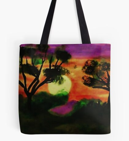 WOW, what a sunset, watercolor Tote Bag