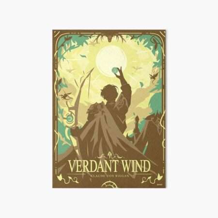 Verdant Wind Art Board Print
