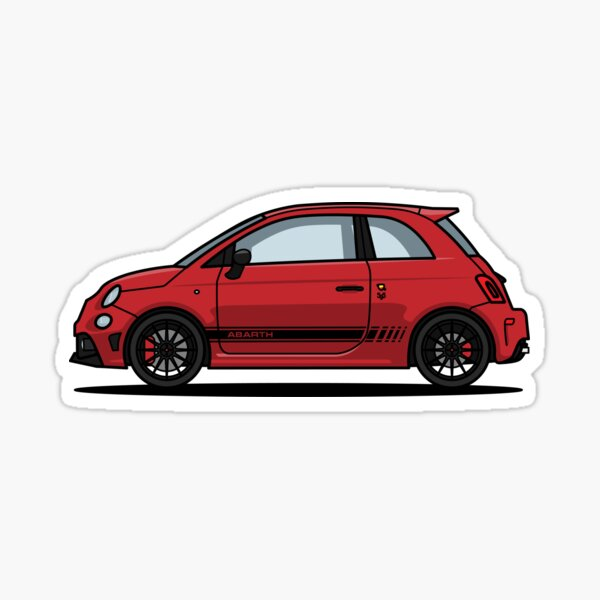 Abarth 595 Red Pegatina