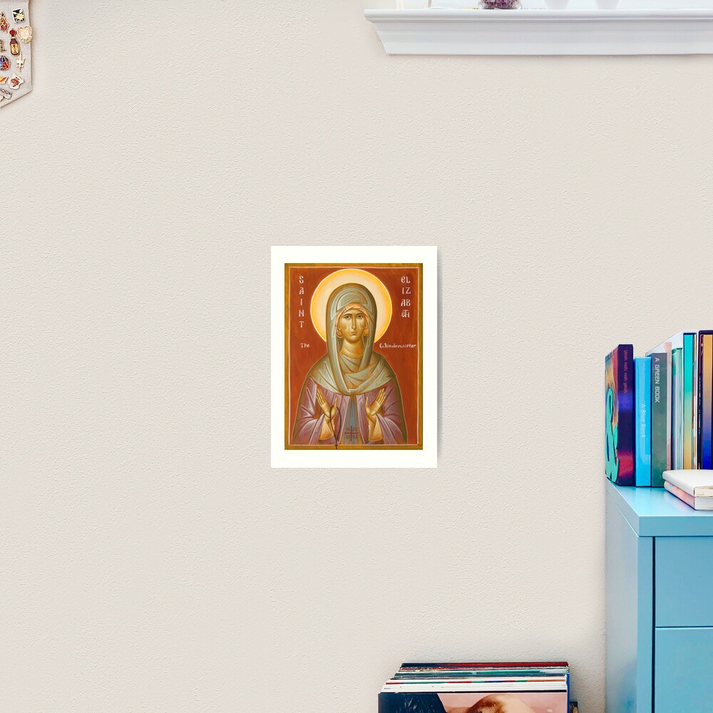St Elizabeth the Wonderworker Art Print