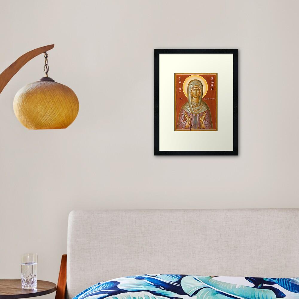 St Elizabeth the Wonderworker Framed Art Print
