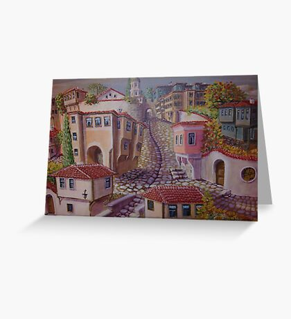 Plovdiv old town Greeting Card