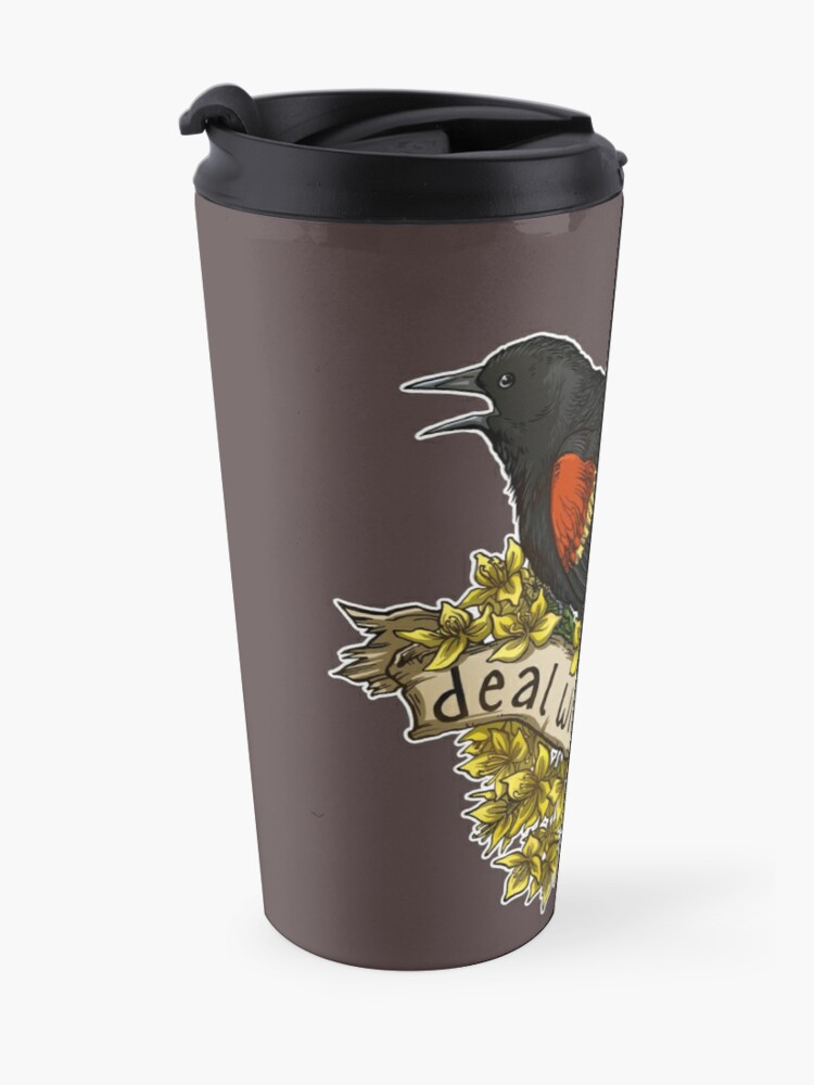 Alternate view of Deal With It, Nerd Travel Mug