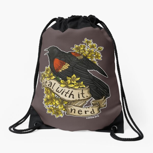 Deal With It, Nerd Drawstring Bag