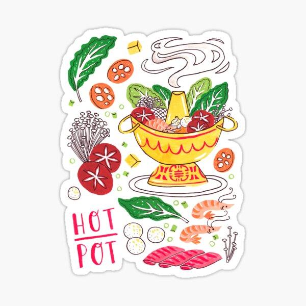 Hot Pot Shabu Shabu Chinese Japanese Soup Cuisine  Sticker