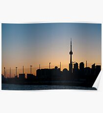 CN Tower & Polson Quay From Cherry Street Poster
