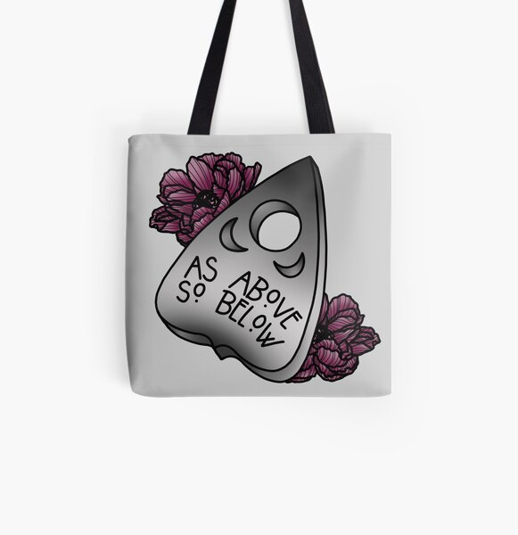 As Above So Below All Over Print Tote Bag
