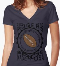 usa la tshirt by rogers bros Women's Fitted V-Neck T-Shirt