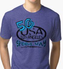 usa los angeles tshirt by rogers bros co Tri-blend T-Shirt
