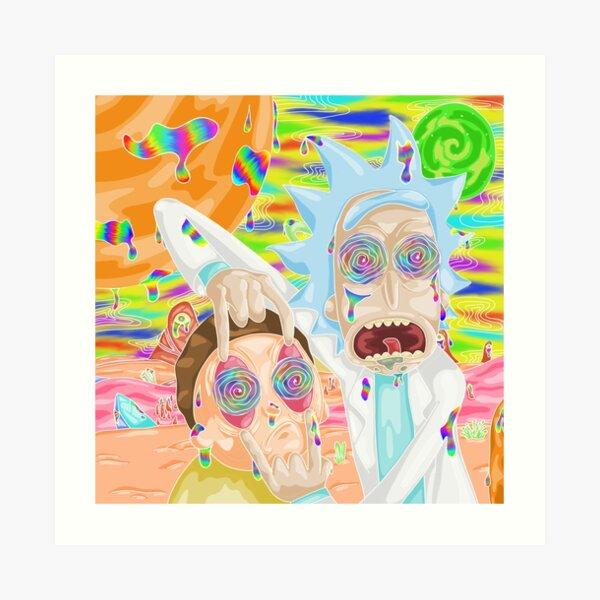 Trippy Rick et Morty Impression artistique