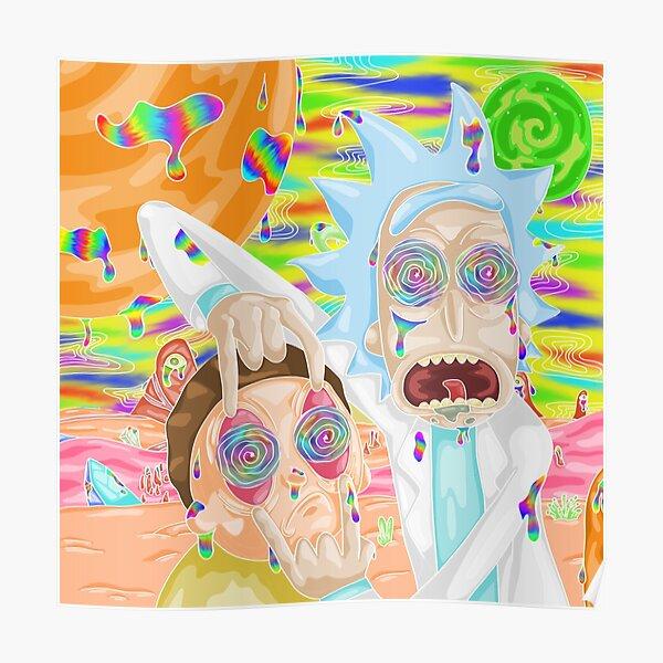 Trippy Rick et Morty Poster