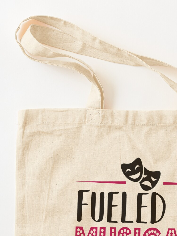 Alternate view of Fueled by Musicals and Tea Tote Bag