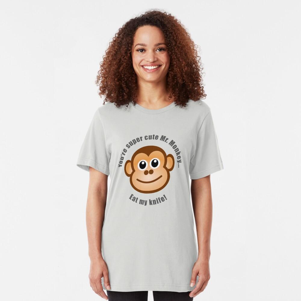 Super Cute Mr. Monkey Slim Fit T-Shirt