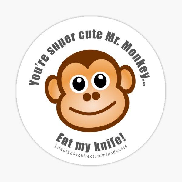 Super Cute Mr. Monkey Sticker Sticker