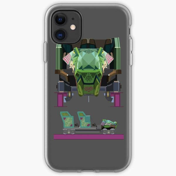 Iron Gwazi Coaster Car Design iPhone Soft Case