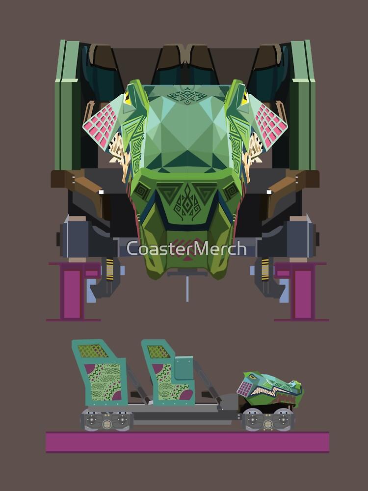 Iron Gwazi Coaster Car Design by CoasterMerch