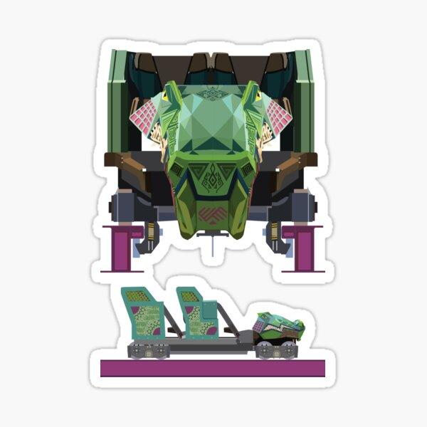 Iron Gwazi Coaster Car Design Sticker