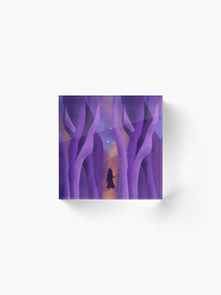 Alternate view of Girl on Path to the Stars Acrylic Block