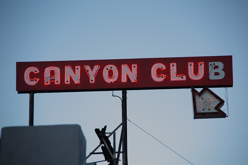 Route 66 - Canyon Club Neon by Frank Romeo