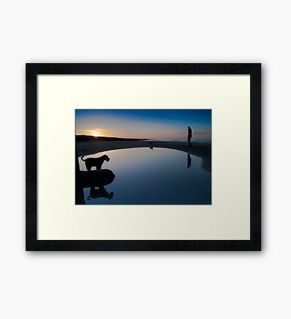 Do I really want to get wet? Framed Print