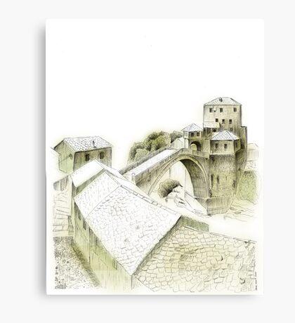 Mostar, old bridge Canvas Print