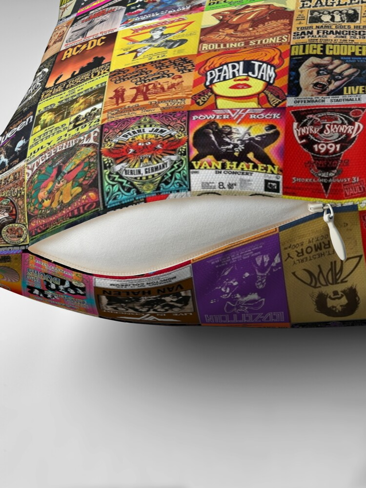 Alternate view of Rock Band Posters Throw Pillow