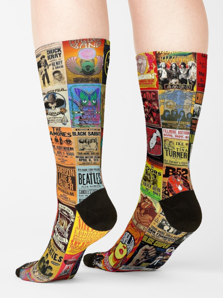 Alternate view of Rock Band Posters Socks