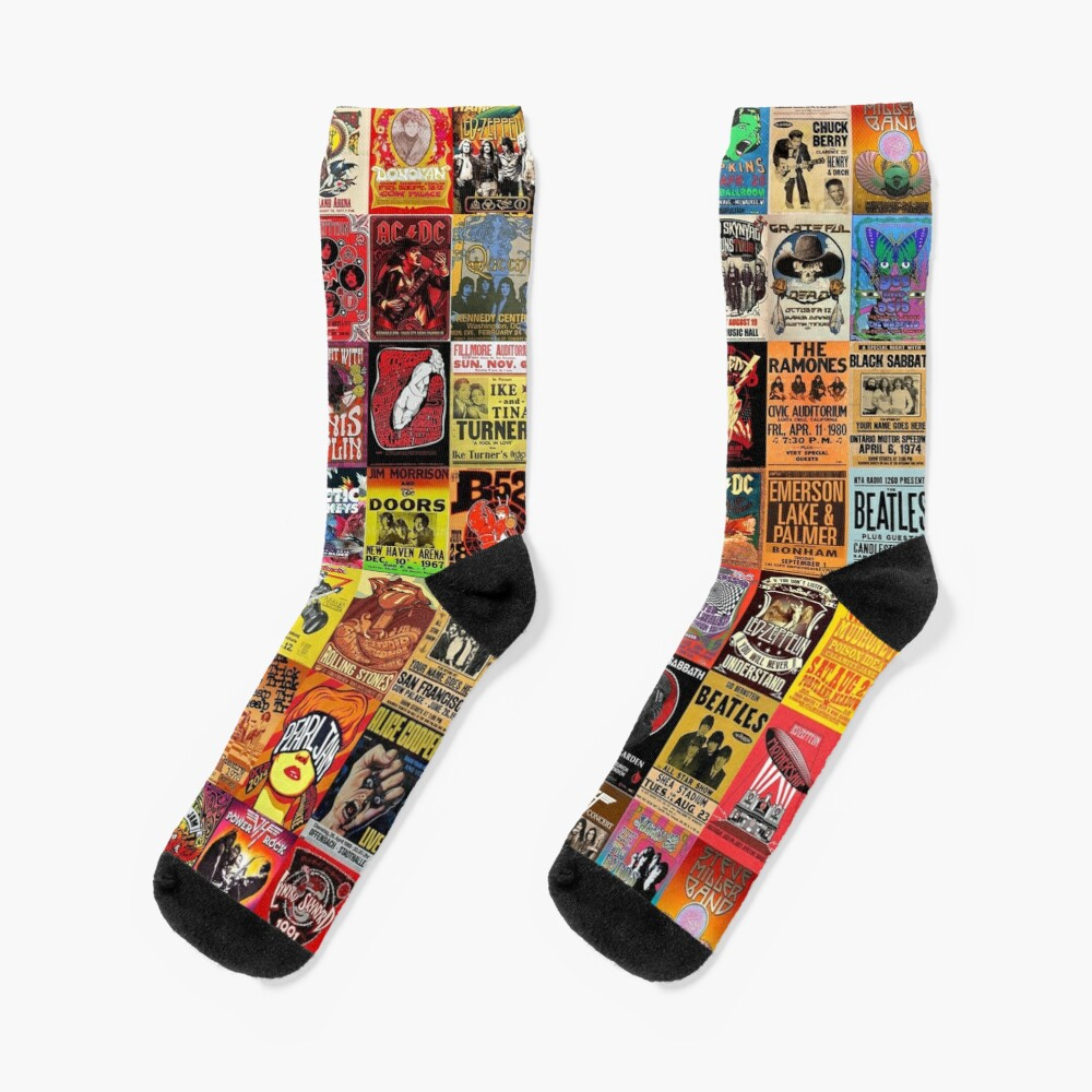Rock Band Posters Socks