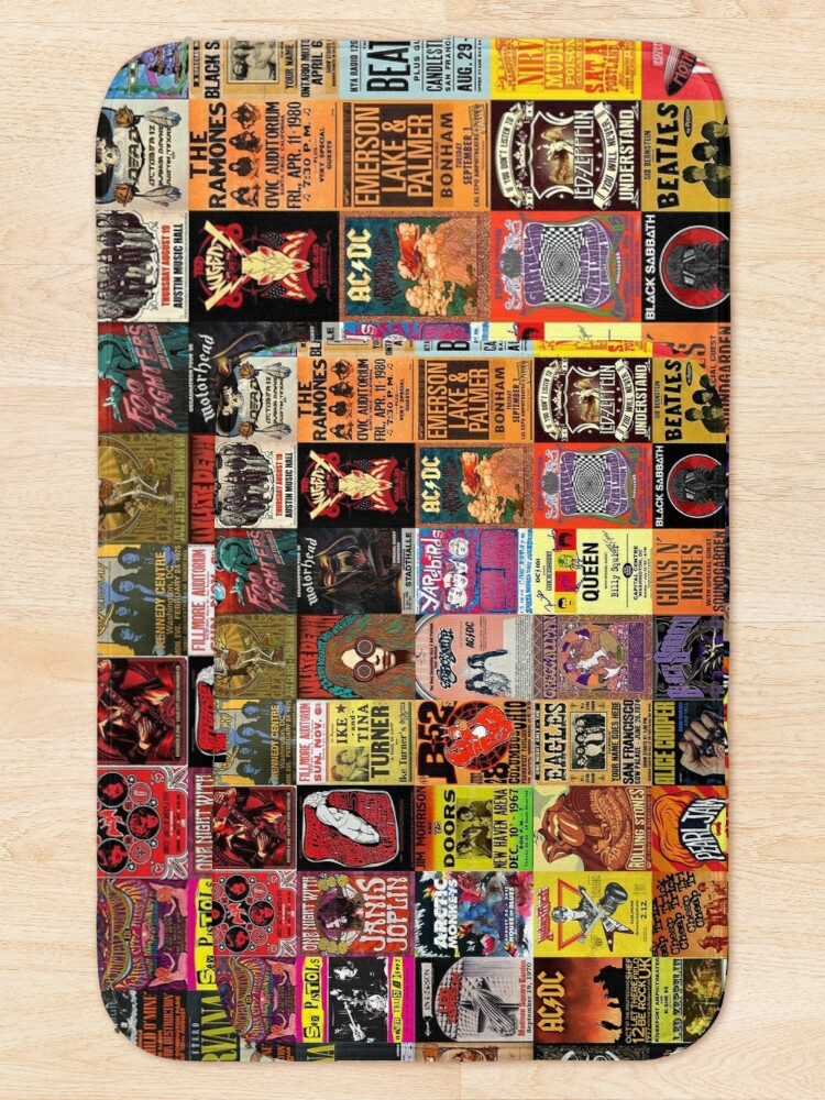 Alternate view of Rock Band Posters Bath Mat