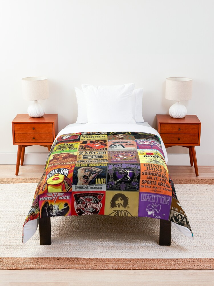 Alternate view of Rock Band Posters Comforter