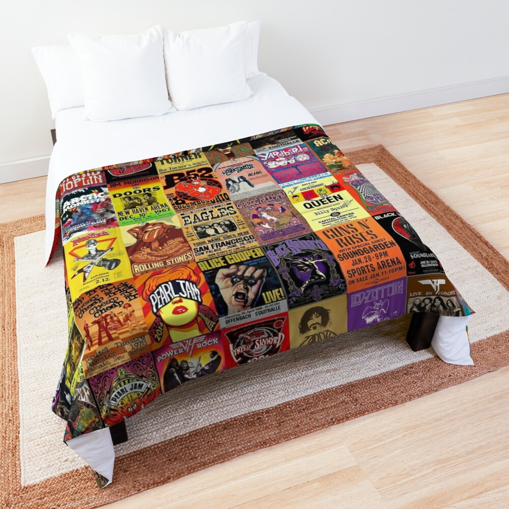 Rock Band Posters Comforter