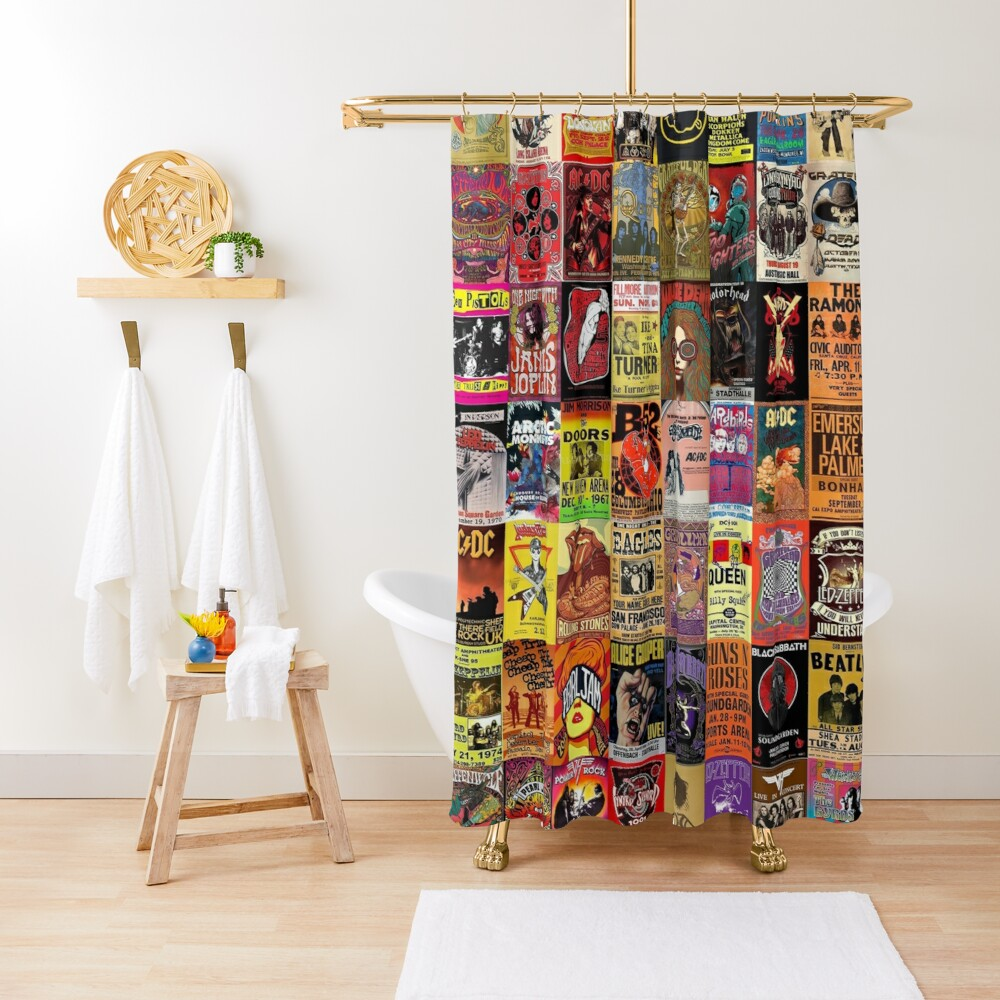 Rock Band Posters Shower Curtain