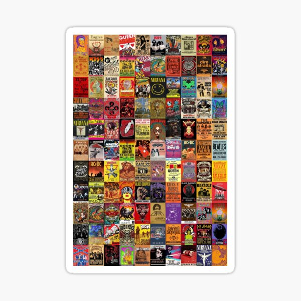 Rock Band Posters Sticker