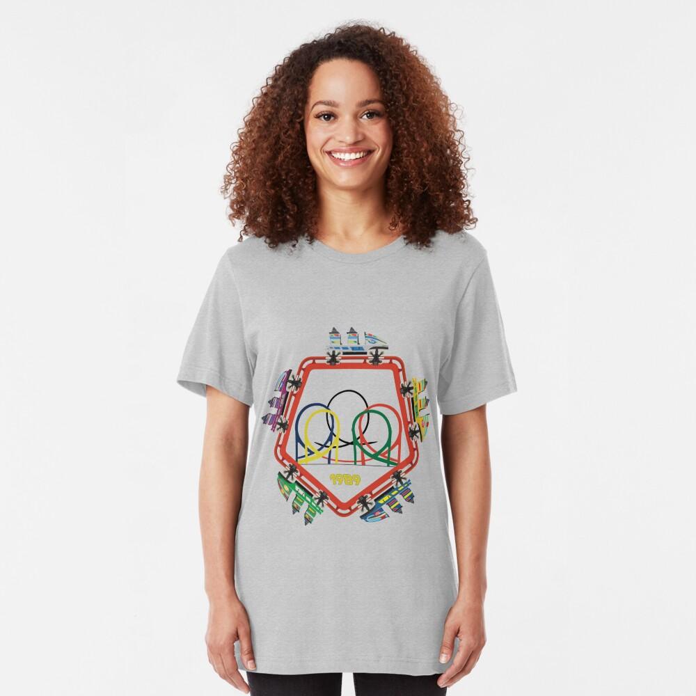 Olympia Looping 5 Coaster Car Design Slim Fit T-Shirt