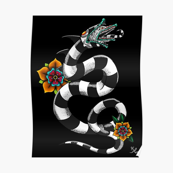 Beetlejuice Sandworm Posters Redbubble